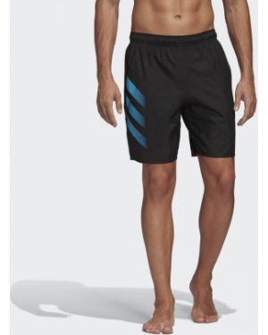 Спортивные пляжные черные пляжные шорты с карманами Adidas
