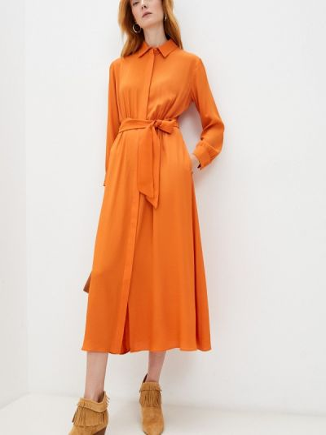 Оранжевое зимнее платье Weekend Max Mara