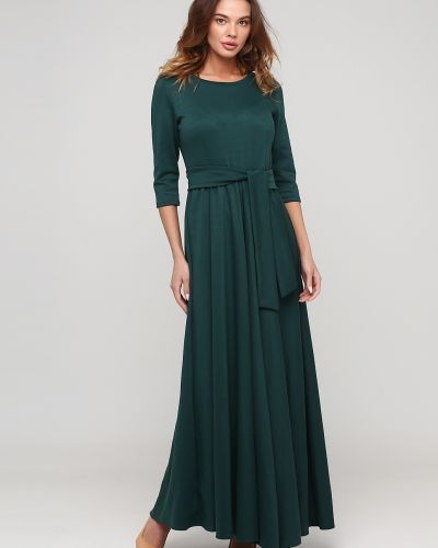 Платье свободного кроя - зеленое Niktan