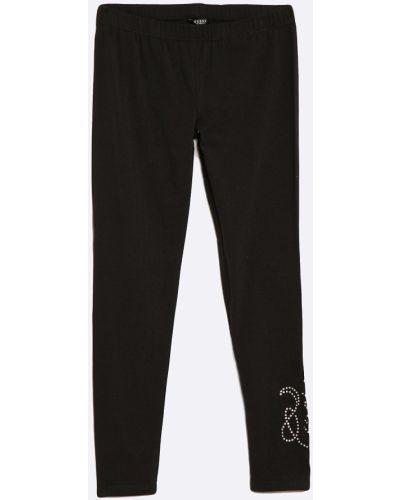 Брюки эластичные черные Guess Jeans