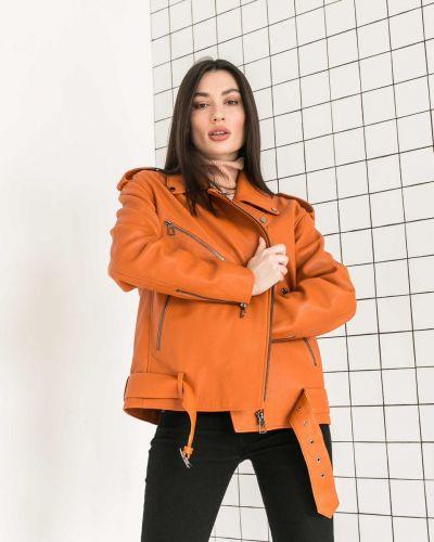 Кожаная куртка без бренда