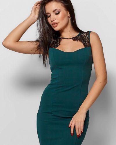 Вечернее платье осеннее зеленый Karree