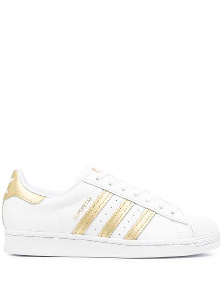 Ażurowy włókienniczy top złoto zasznurować Adidas