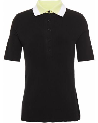 Хлопковая черная рубашка в полоску Paul Smith