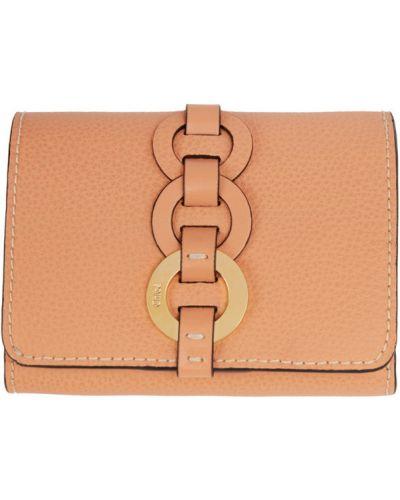 Czarny skórzany portfel na monety z kieszeniami Chloe