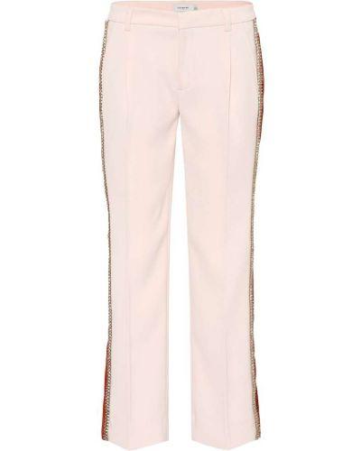 Укороченные брюки розовый в полоску Coach