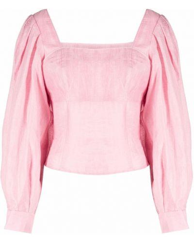 Розовая блузка с вырезом Sandro Paris
