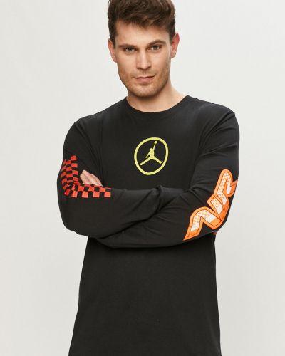 Czarny t-shirt bawełniany z printem Jordan