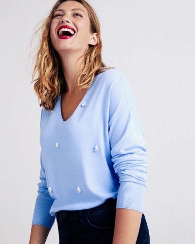 Пуловер голубой Violeta By Mango