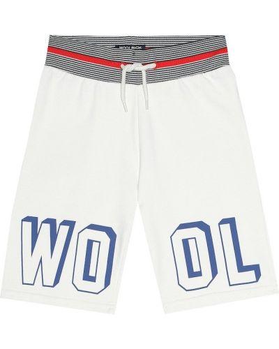 Короткие шорты бежевые шерстяные Woolrich Kids