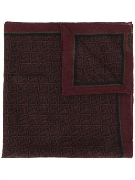 Szalik wełniany z printem Lardini