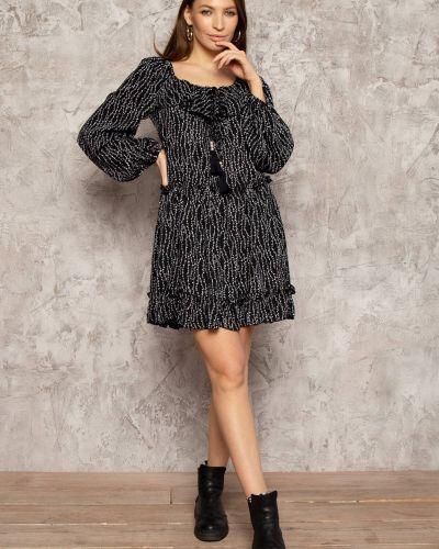 Платье с принтом - черное Nenka