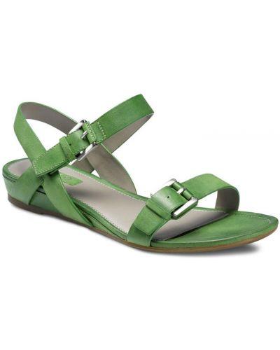 Сандалии зеленый кожаный Ecco