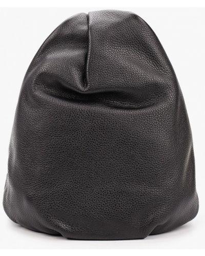 Городской черный рюкзак из натуральной кожи Ekonika