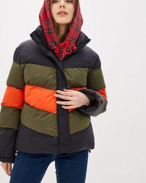 Утепленная куртка демисезонная черная Stitch & Soul