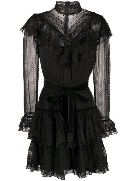Платье с прозрачными рукавами на молнии Zimmermann