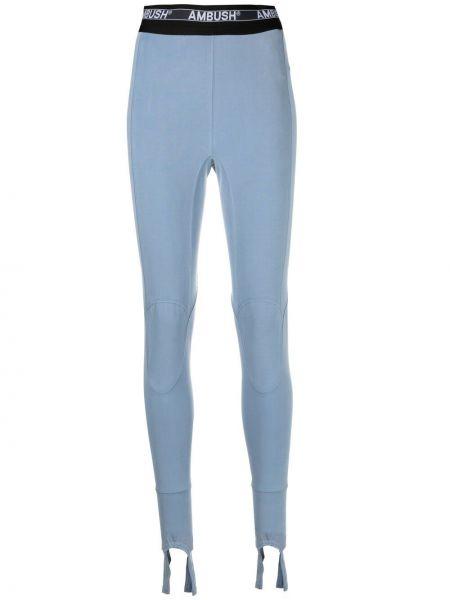 Niebieskie legginsy z wysokim stanem Ambush