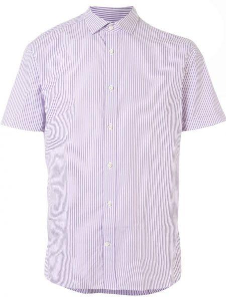 Хлопковая с рукавами рубашка с воротником Kent & Curwen