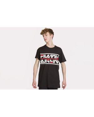 Klasyczny czarny t-shirt bawełniany Fila