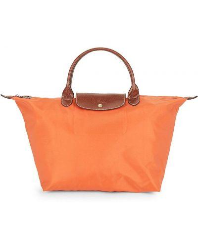 Кожаный топ - оранжевый Longchamp