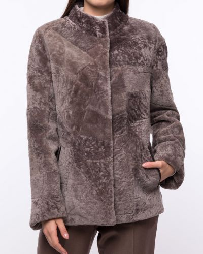 Куртка с мехом - бежевая Dzhanbekoff