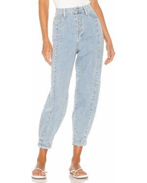 Jeansy bawełniane z cekinami Pistola