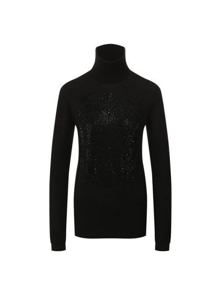 Водолазка черная из мериноса Ralph Lauren