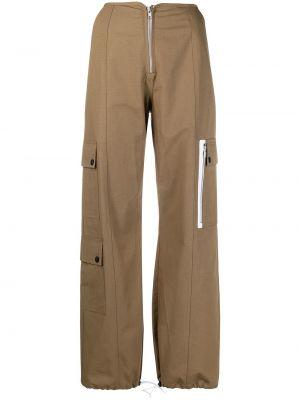 Прямые с завышенной талией брюки карго с карманами Sandy Liang