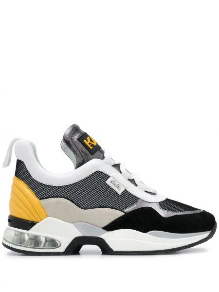 Skórzany sneakersy z logo Karl Lagerfeld