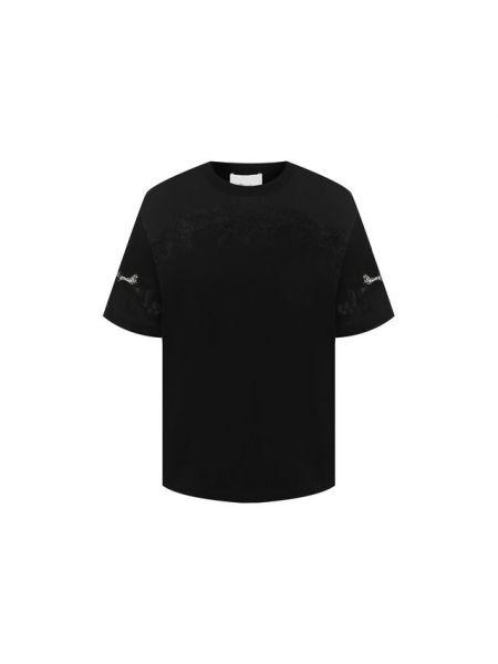 Футбольная прямая черная футболка с круглым вырезом 3.1 Phillip Lim
