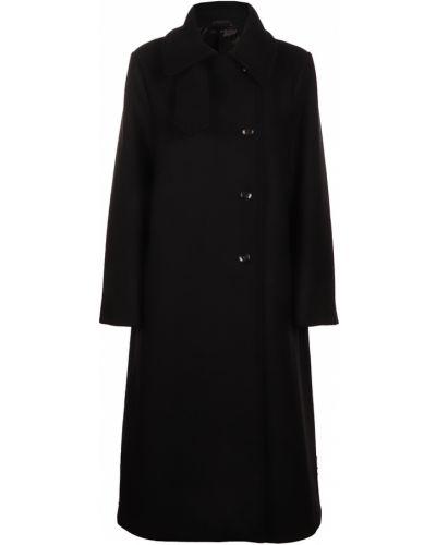 Czarny płaszcz Toteme