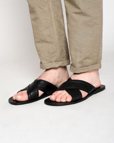 Шлепанцы черные Trussardi Jeans