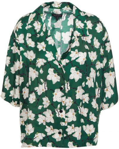 Koszula z jedwabiu - zielona Rag & Bone
