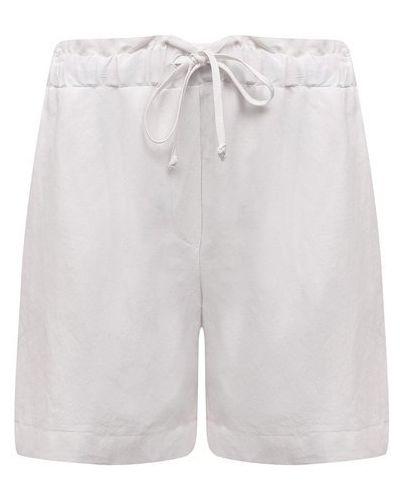 Белые шорты из вискозы Pietro Brunelli