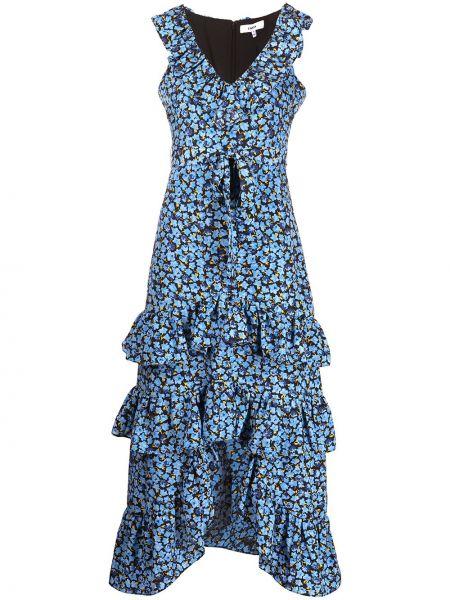 Niebieska sukienka długa z printem Likely