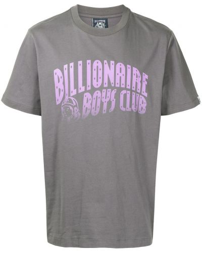 Серая футболка короткая Billionaire Boys Club