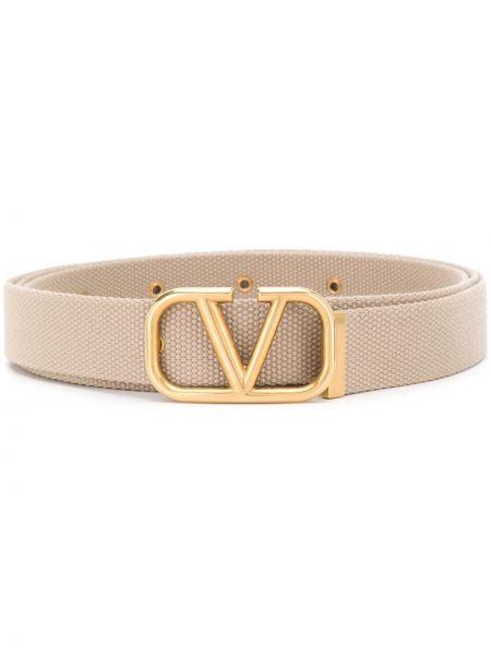 Złoty pasek z paskiem klamry Valentino