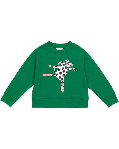 Хлопковый свитшот - зеленый Stella Mccartney Kids