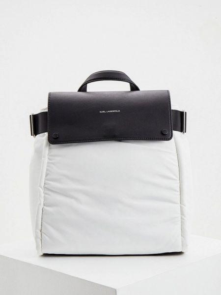Рюкзак белый нейлоновый Karl Lagerfeld