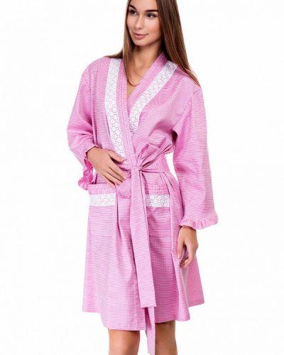 Розовый халат домашний German Volf