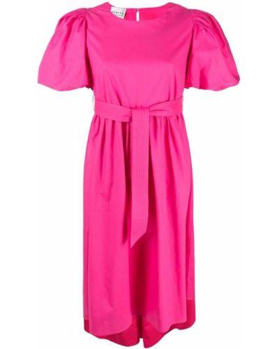 Różowa sukienka mini asymetryczna bawełniana Edward Achour Paris