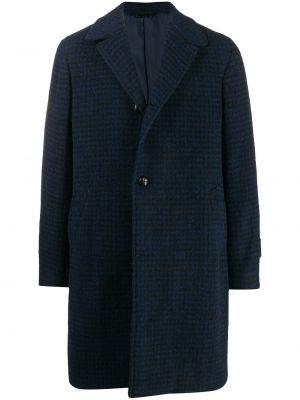 Czarny płaszcz wełniany z długimi rękawami Mp Massimo Piombo