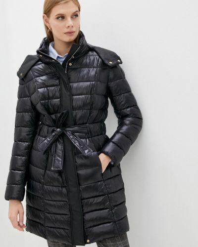 Черная утепленная куртка Trussardi