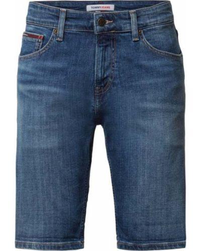 Niebieskie bermudy bawełniane Tommy Jeans