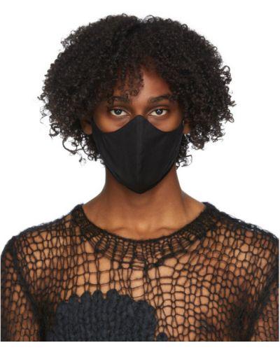 Шерстяная черная маска для лица Ann Demeulemeester