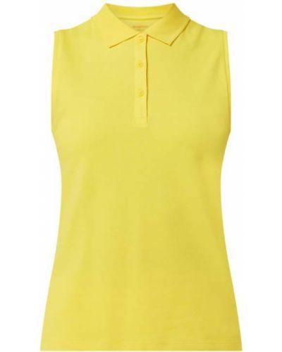Żółty t-shirt bawełniany bez rękawów Montego