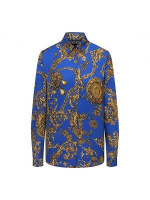 Джинсовая рубашка - синяя Versace Jeans Couture