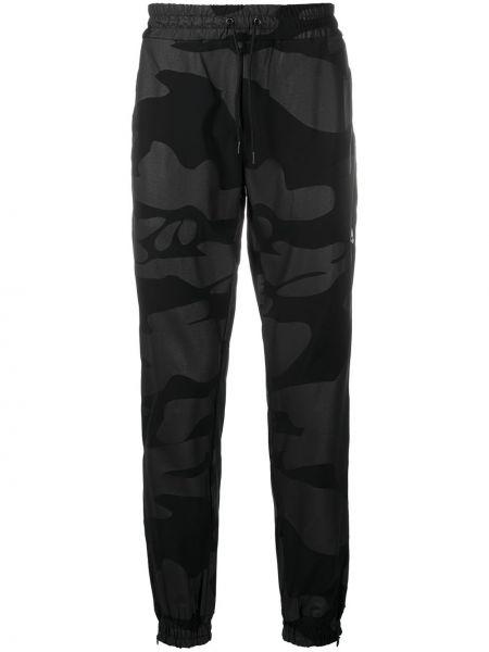 Czarne spodnie z printem Hydrogen