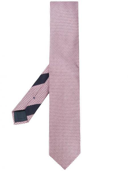 Шелковый розовый галстук Ermenegildo Zegna