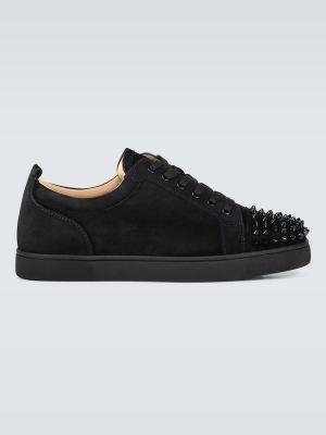 Czarne sneakersy zamszowe Christian Louboutin